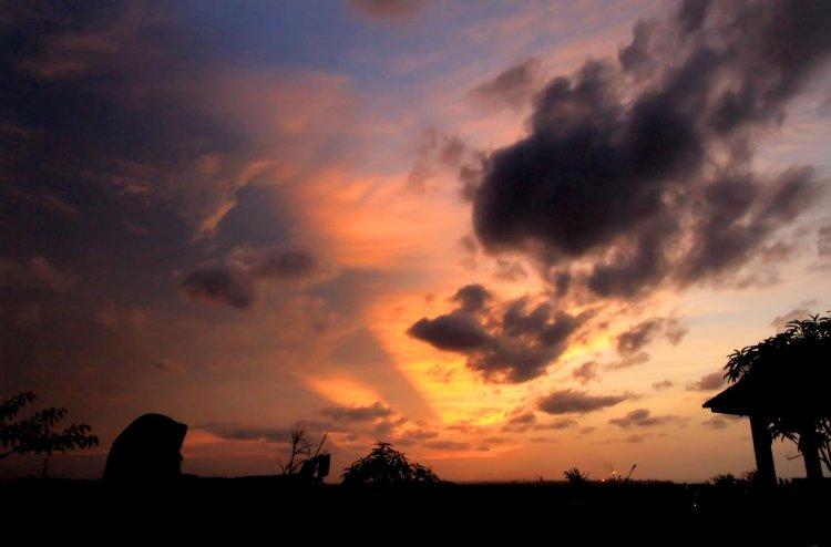 Sunset di Bukit Goa Jepang Lhokseumawe