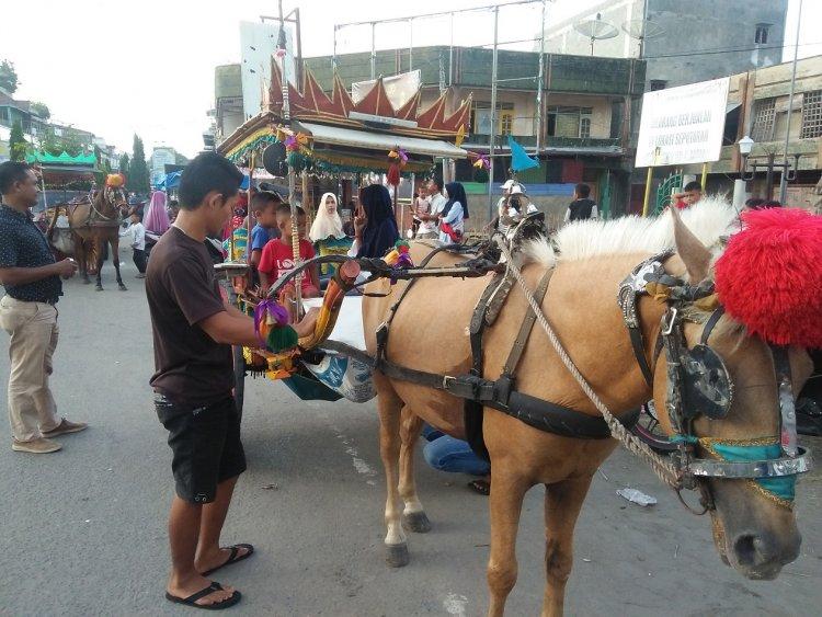 Keliling Kota Krueng Geukuh dengan Dokar Solok