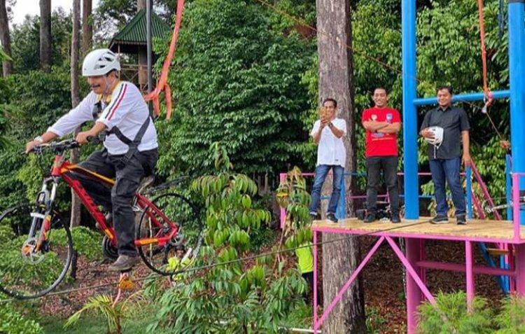 Wahana Sepeda Gantung Hadir di Langsa