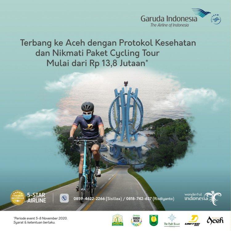 Sepedaan di Aceh bersama Garuda Indonesia